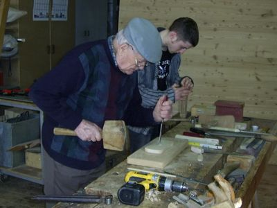Mr Mathieu Welsch, 93 years, supporting tradition
