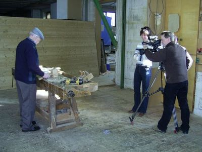 TV station came to film Mr Welsch