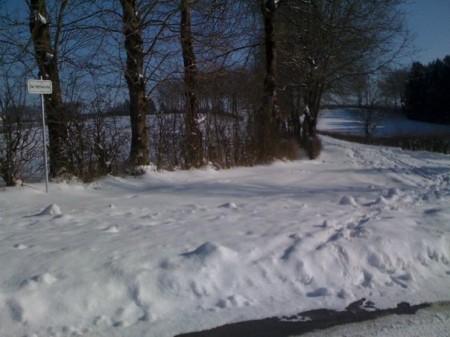 Sommige binnenpaden alleen met sneeuwschoenen te bewandelen...