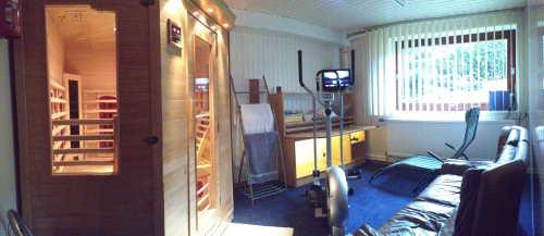 Relax ruimte met Infrarood Sauna Wirtzfeld Valley Guesthouse