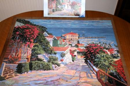 Brigitte heeft opnieuw een puzzle klaar....