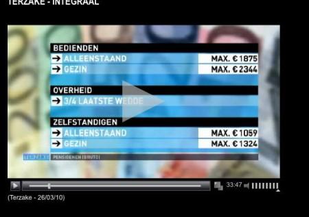 Maximum brutto (!) pensioenen in Belgie (stand 2010)